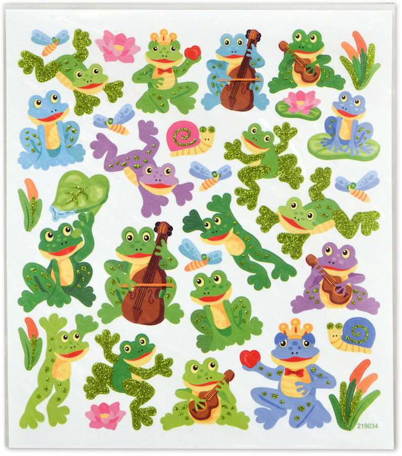 View larger image of Frogs and Snails Stickers with Upright Bass and Ukulele