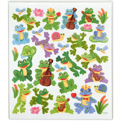 Frogs and Snails Stickers with Upright Bass and Ukulele