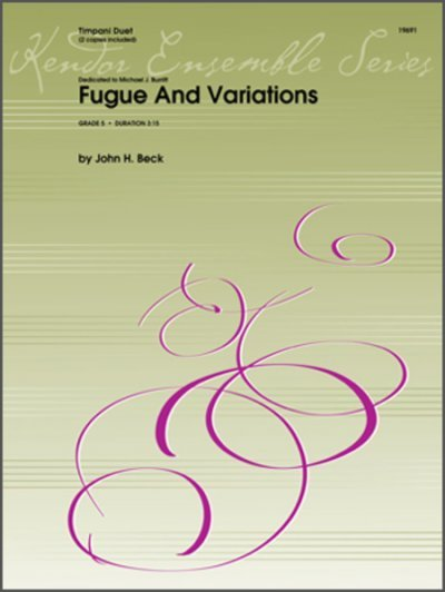 View larger image of Fugue And Variations - Timpani Duet