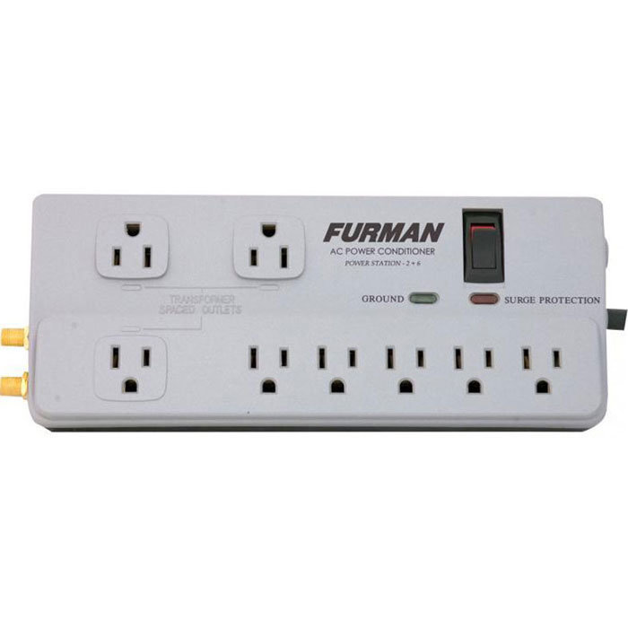 View larger image of Furman 15A 8 Outlet Surge Suppressor Power Bar