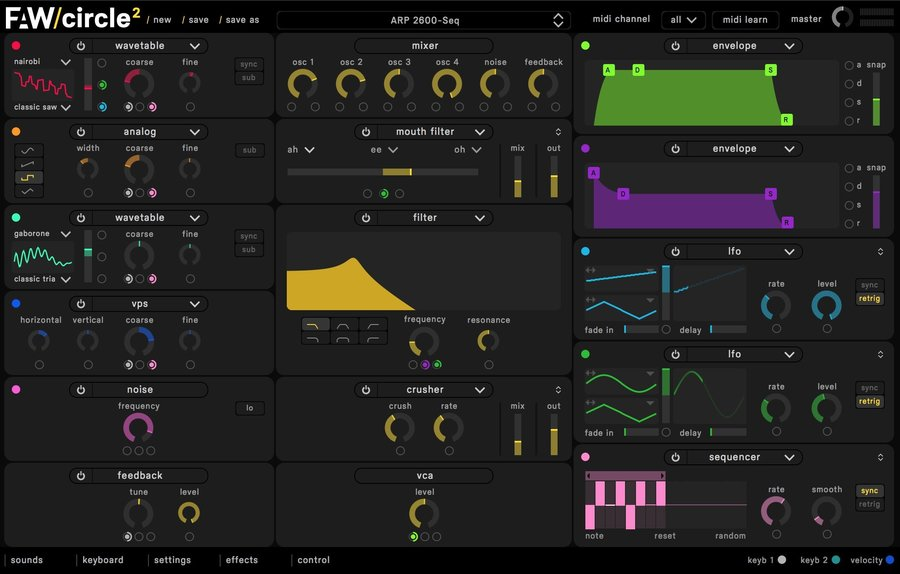 View larger image of Futureaudwkshp FAW Circle2 Synthesizer - Digital Download