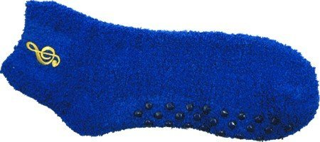 View larger image of Fuzzy G-Clef Socks - Royal Blue