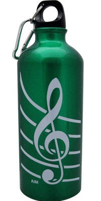 View larger image of G-Clef Aluminum Water Bottle - Green