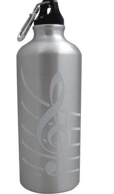 View larger image of G-Clef Aluminum Water Bottle - Silver