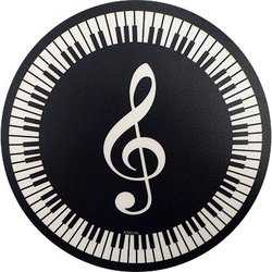 G-Clef and Keyboard Mouse Pad
