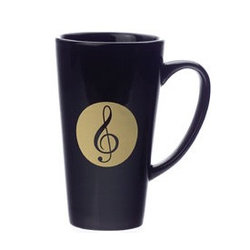 G-Clef Black Latte Mug - 16oz