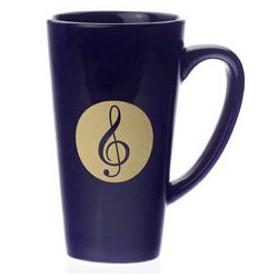 G-Clef Blue Latte Mug - 16oz