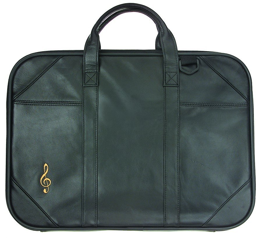 View larger image of G-Clef Embroidered Leather Briefcase