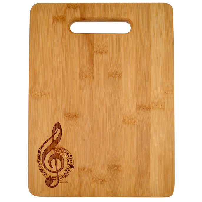 View larger image of G-Clef Engraved Wooden Cutting Board