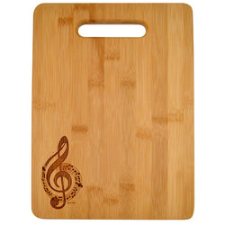 G-Clef Engraved Wooden Cutting Board