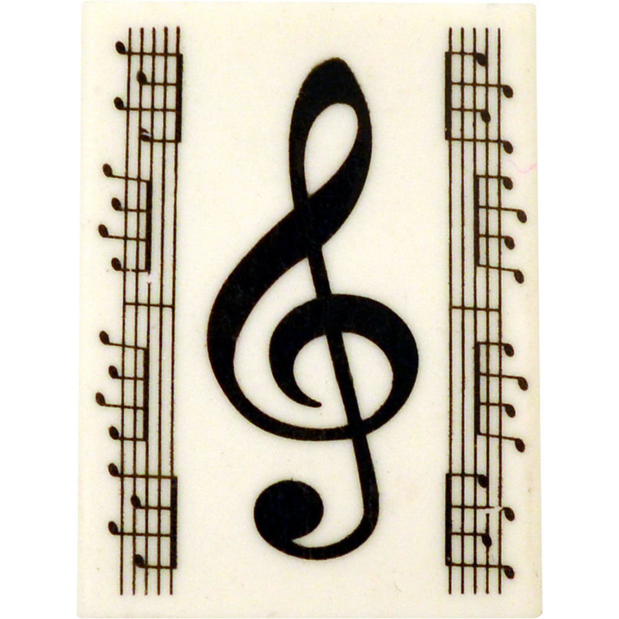View larger image of G-Clef Eraser with Notes