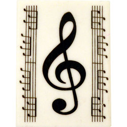 G-Clef Eraser with Notes