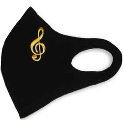G-Clef Face Mask - Black/Gold