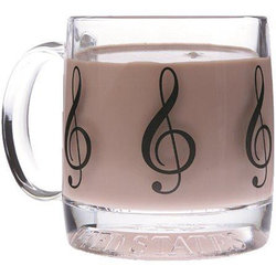 G-Clef Glass Mug
