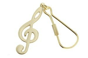 View larger image of G-Clef Keychain - Black