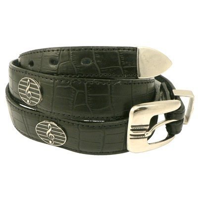 View larger image of G-Clef Leather Belt - XL (42-46)