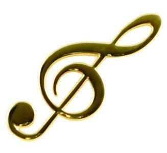View larger image of G-Clef Magnet - Gold, 4