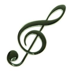 G-Clef Magnet - Silver, 4