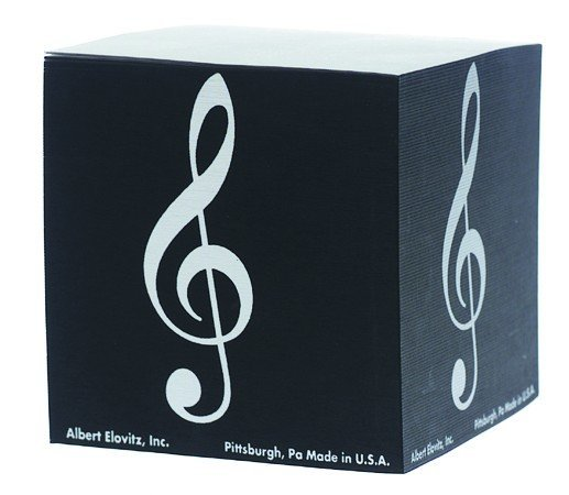 View larger image of G-Clef Memo Cube - Black