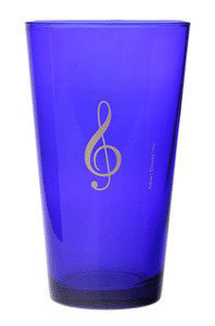View larger image of G-Clef Mixing Glass - Blue, 16oz