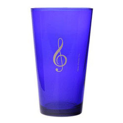 G-Clef Mixing Glass - Blue, 16oz