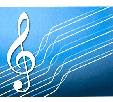 View larger image of G-Clef Note Cards - Blue, 8 Pack