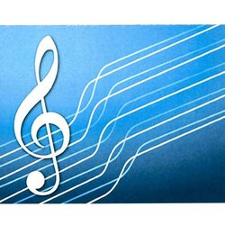 G-Clef Note Cards - Blue, 8 Pack