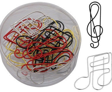 View larger image of G-Clef & Notes Paper Clips - Assorted, 15 Pack