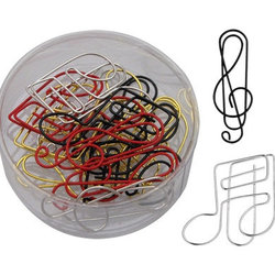 G-Clef & Notes Paper Clips - Assorted, 15 Pack
