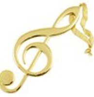 View larger image of G-Clef Ornament - Gold, 5