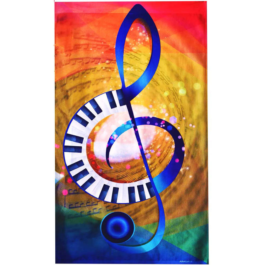View larger image of G-Clef Piano Sublimination Flag