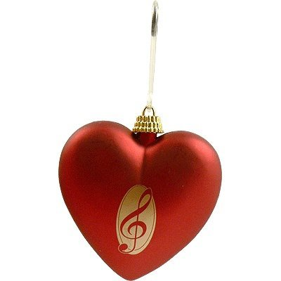 View larger image of G-Clef Red Heart Ornament