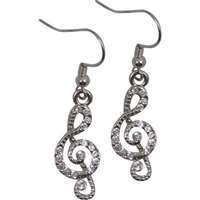 View larger image of G-Clef Rhinestone Earrings
