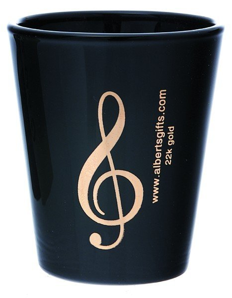 View larger image of G-Clef Shot Glass - Black/Gold