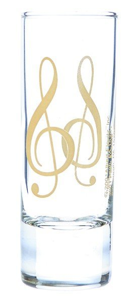 View larger image of G-Clef Shot Glass - Clear/Gold, 2oz