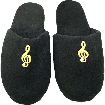 View larger image of G-Clef Slippers - Black, Medium - Large