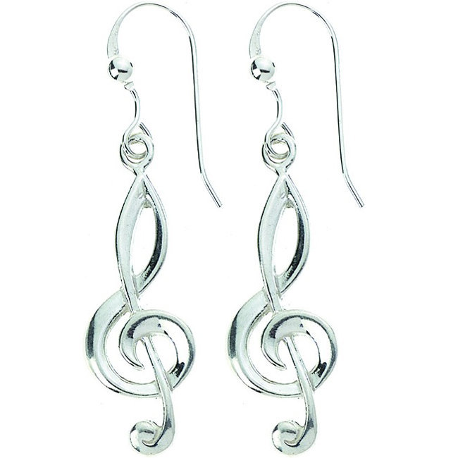 View larger image of G-Clef Sterling Silver Earrings