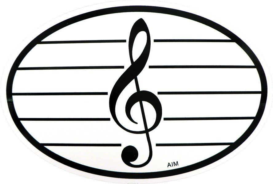 View larger image of G-Clef Sticker - Oval