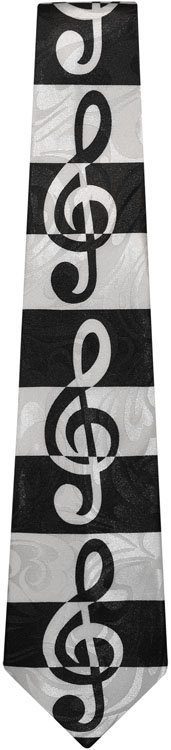 View larger image of G-Clef Tie - Black/White