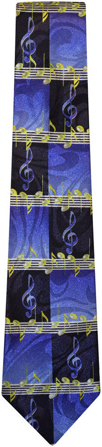 View larger image of G-Clef Tie - Blue/Black