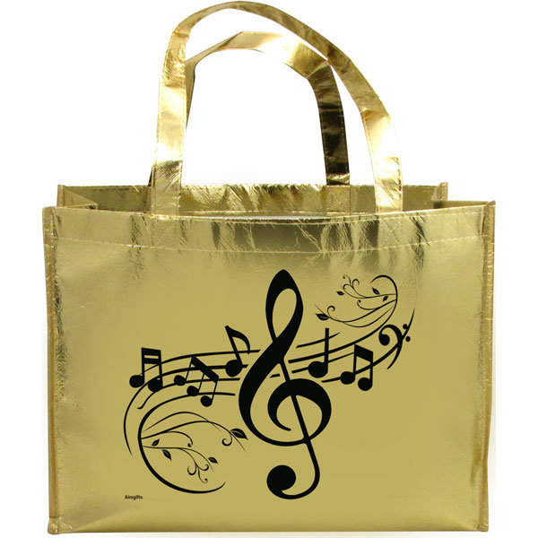 View larger image of G-Clef Tote Bag - Metallic Gold