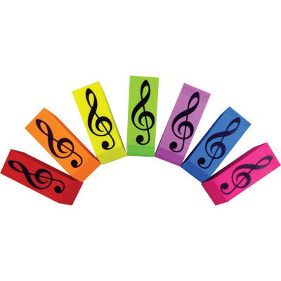 View larger image of G-Clef Wedge Eraser - Assorted