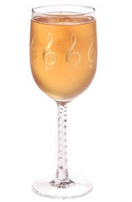 View larger image of G-Clef Wine Glass