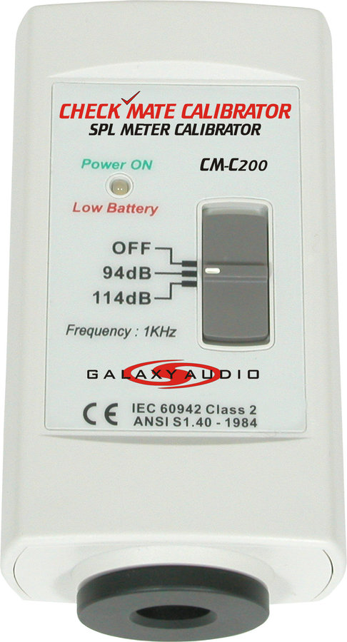 View larger image of Galaxy Audio CheckMate CM-200 SPL Meter