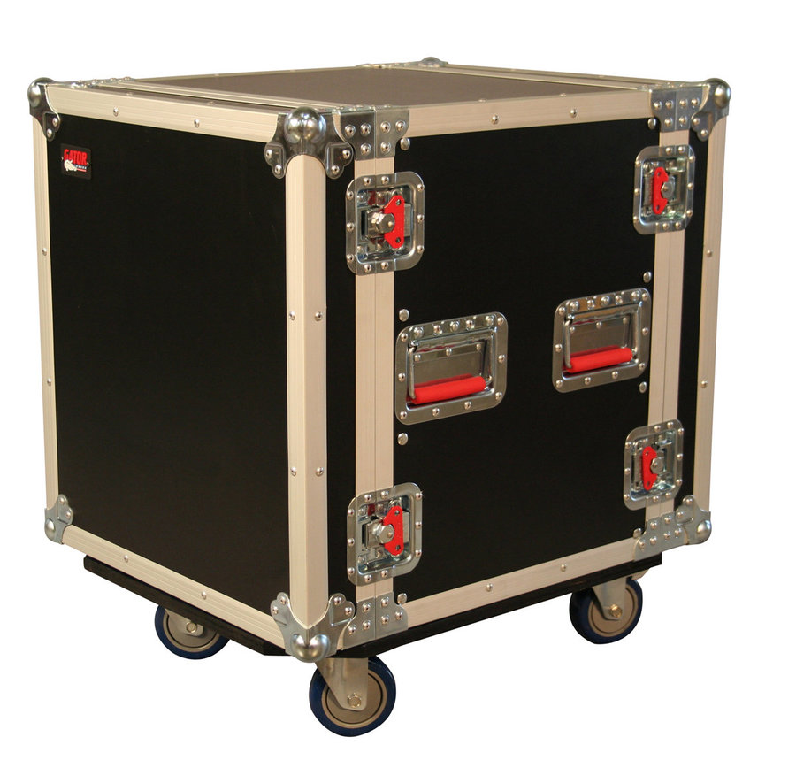 View larger image of Gater ATA Wood Flight Rack Case with Casters - 12U/17 Deep
