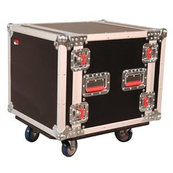 Gator 10U ATA Wood Flight Rack Case with Casters
