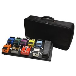 Gator Aluminum Pedal Board with Carry Bag - Black, Large