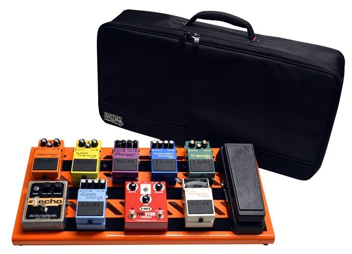 View larger image of Gator Aluminum Pedal Board with Carry Bag - British Orange, Large