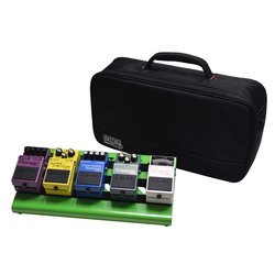 Gator Aluminum Pedal Board with Carry Bag - Screamer Green, Small