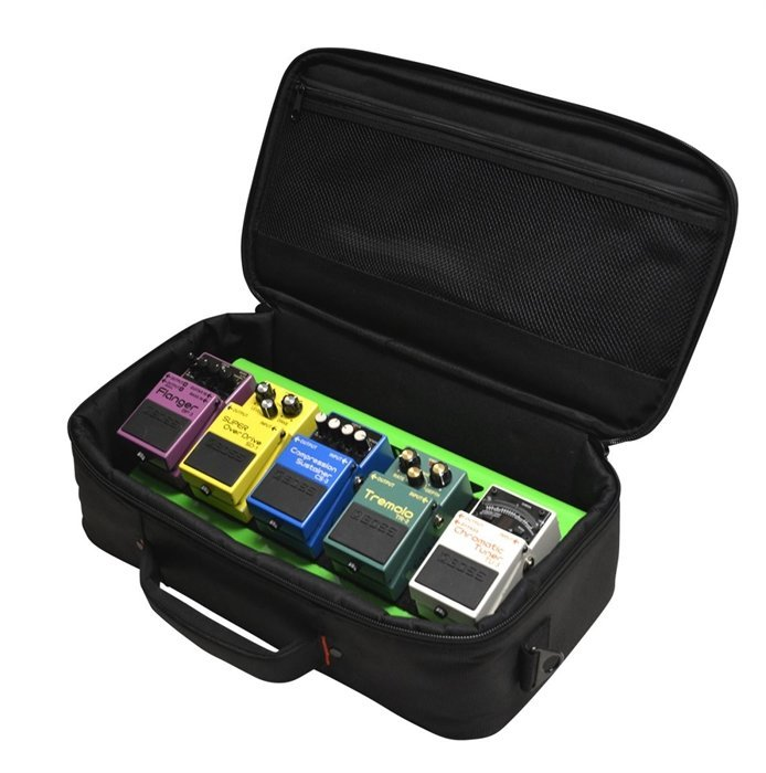 View larger image of Gator Aluminum Pedal Board with Carry Bag - Screamer Green, Small